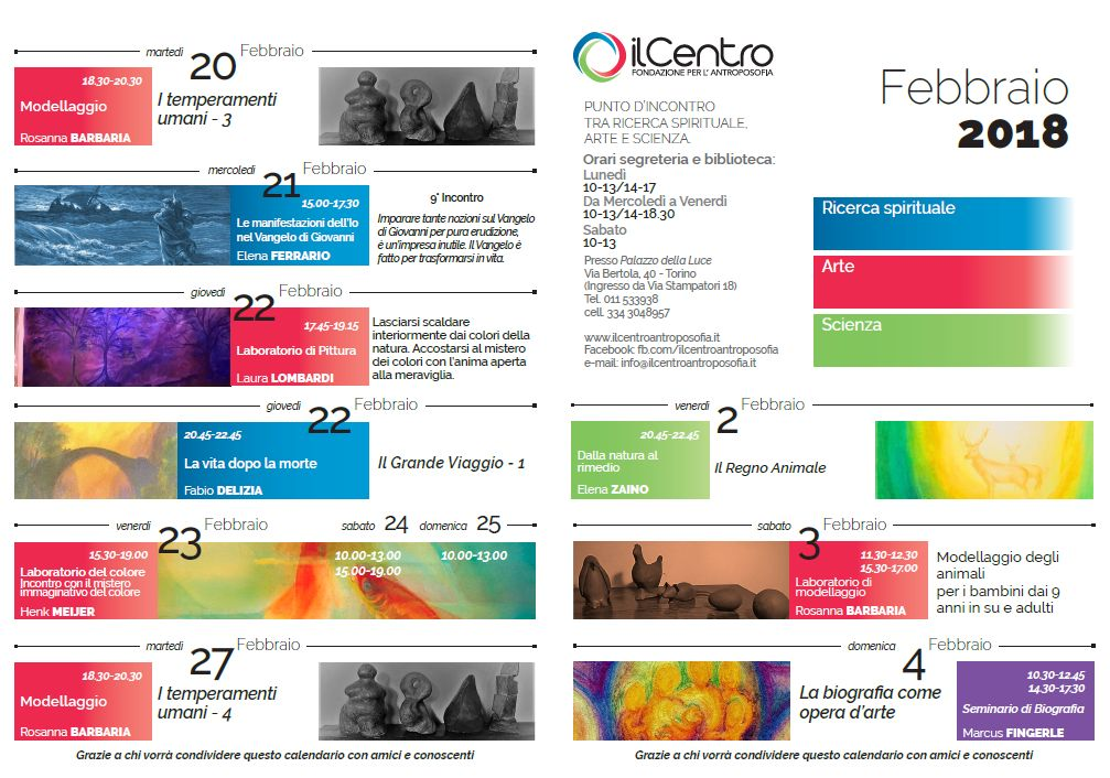 calendario mensile febbraio 2017-18