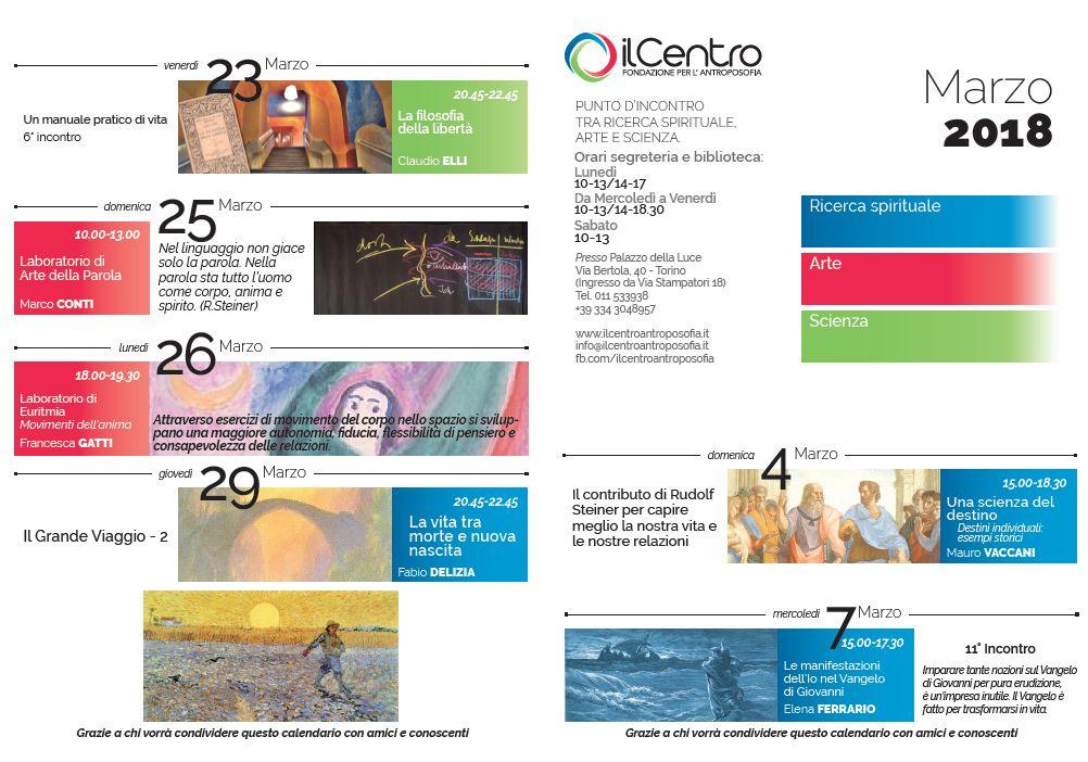 calendario mensile marzo 2017-18