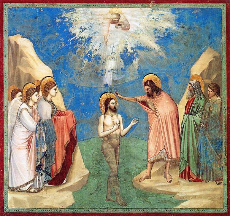 Il battesimo di Gesù - Giotto