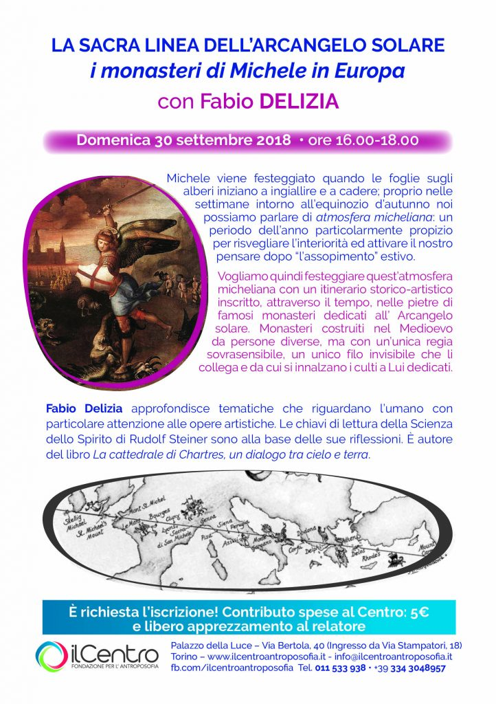 La sacra linea dell'arcangelo solare con Fabio Delizia - locandina