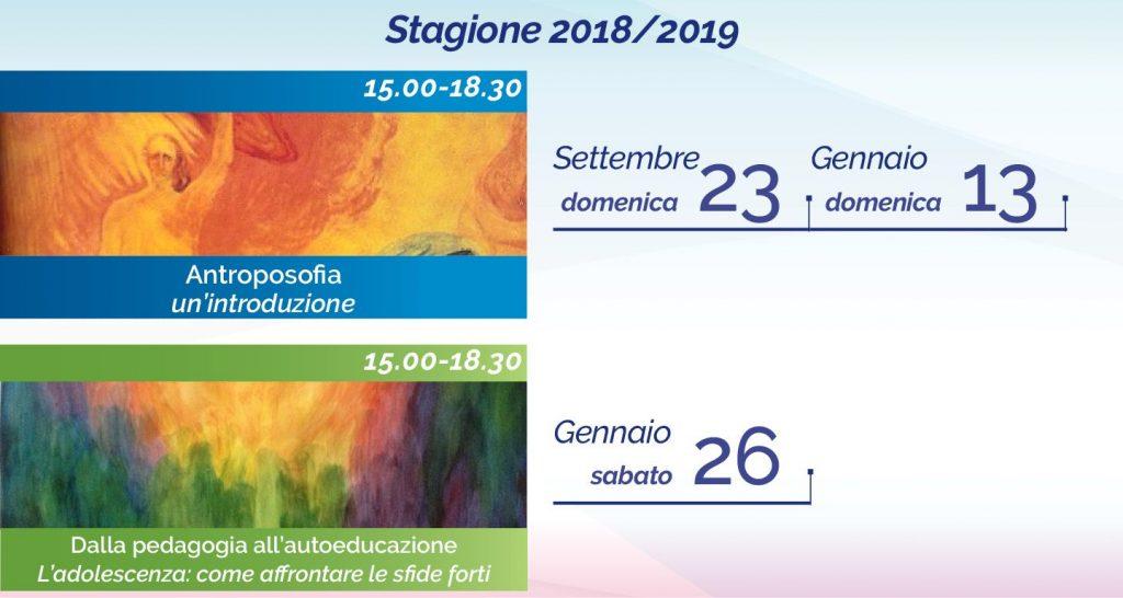 Il calendario 2018-2019 di Giorgio Capellani al Centro Antroposofia di Torino