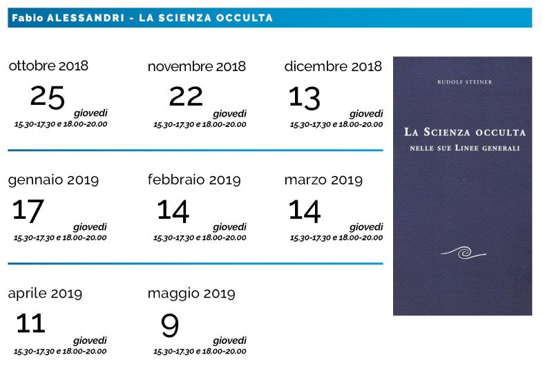 Calendario gruppo La Scienza Occulta del giovedì