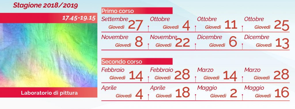 Laura Lombardi pittura calendario 2018-2019