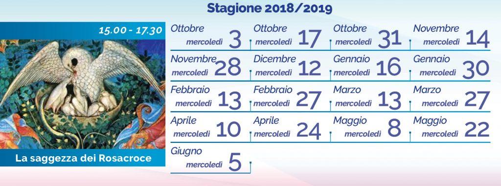 Elena Ferrario La saggezza-dei Rosacroce calendario 2018-2019