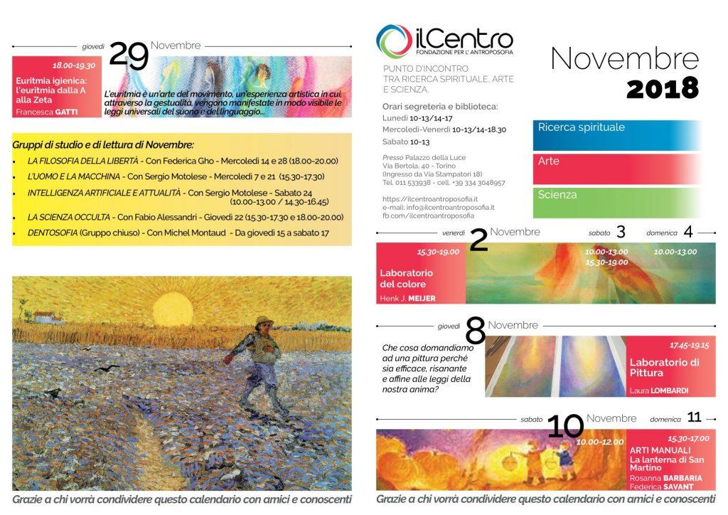 calendario mensile novembre 2018