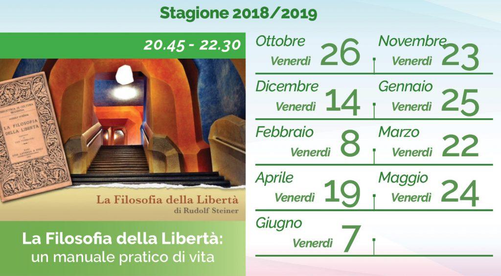Claudio Elli Filosofia Liberta calendario 2018-2019