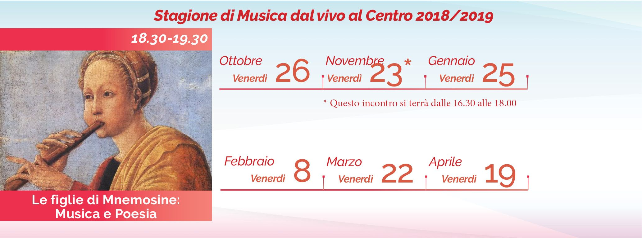 Il calendario 2018-2019 di Giovanna Fassino