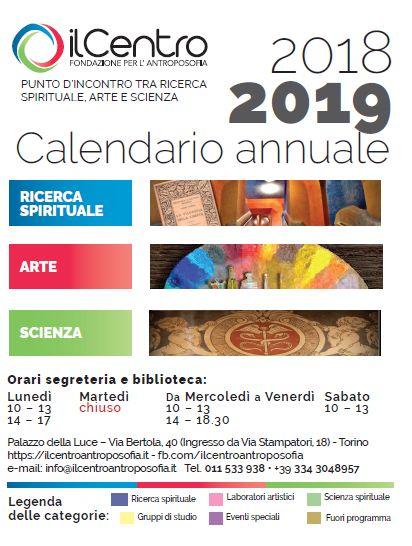 Calendario attività stagione 2018/2019 al Centro