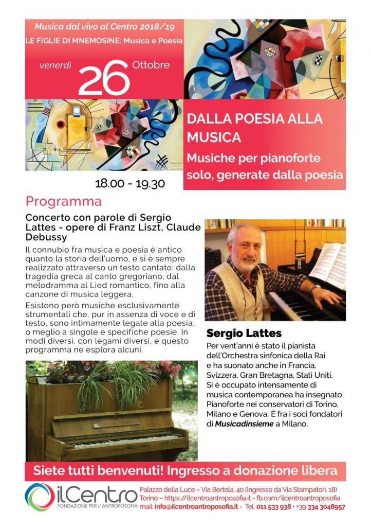 Sergio Lattes pianoforte ottobre 2018 locandina