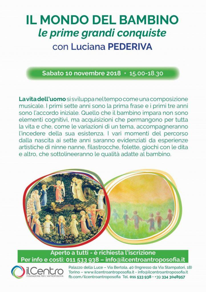 Luciana Pederiva mondo del bambino locandina
