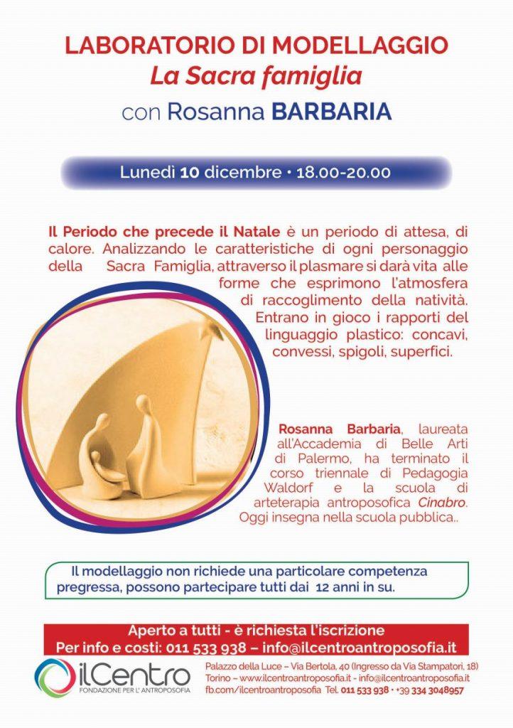rosanna barbaria sacra famiglia modellaggio locandina