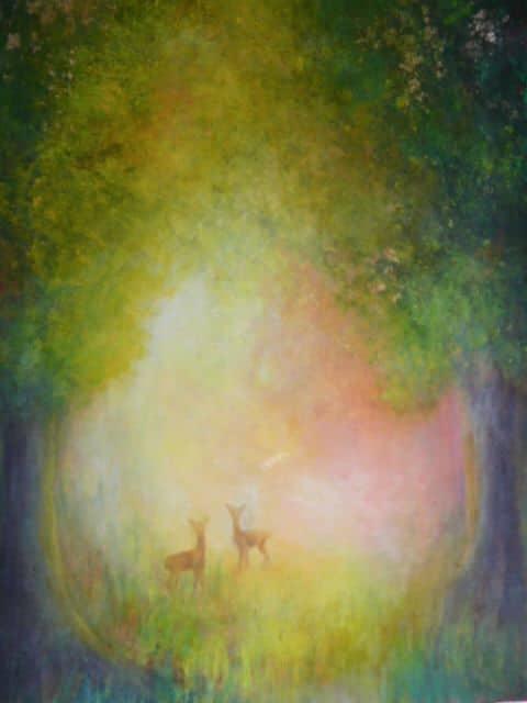 Pastello ad olio su acrilico di Sonja Schopeprs