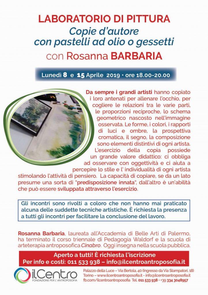 Rosanna Barbaria copie autore locandina