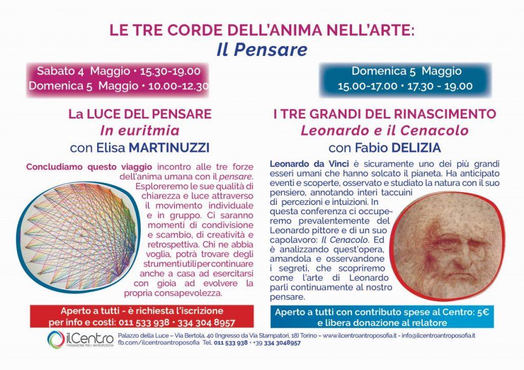 Fabio Delizia e Elisa Martinuzzi La luce del Pensare - locandina