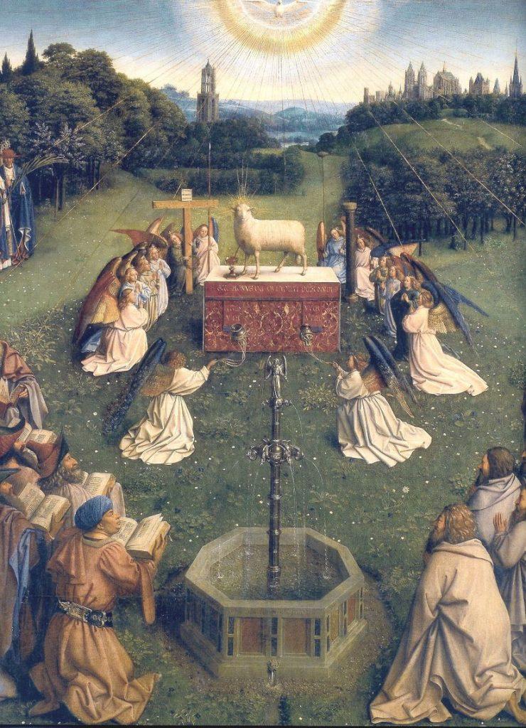 Jan e Hebert van Eyck, dal Polittico dell'Agnello Mistico, o Polittico di Gand, 1426-1432