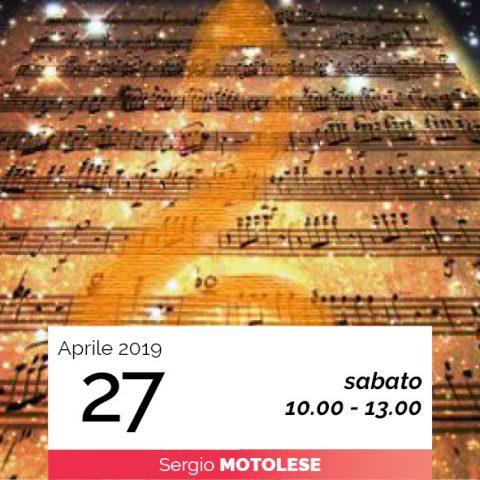 Sergio Motolese il suono terapeutico data 27-4-2019