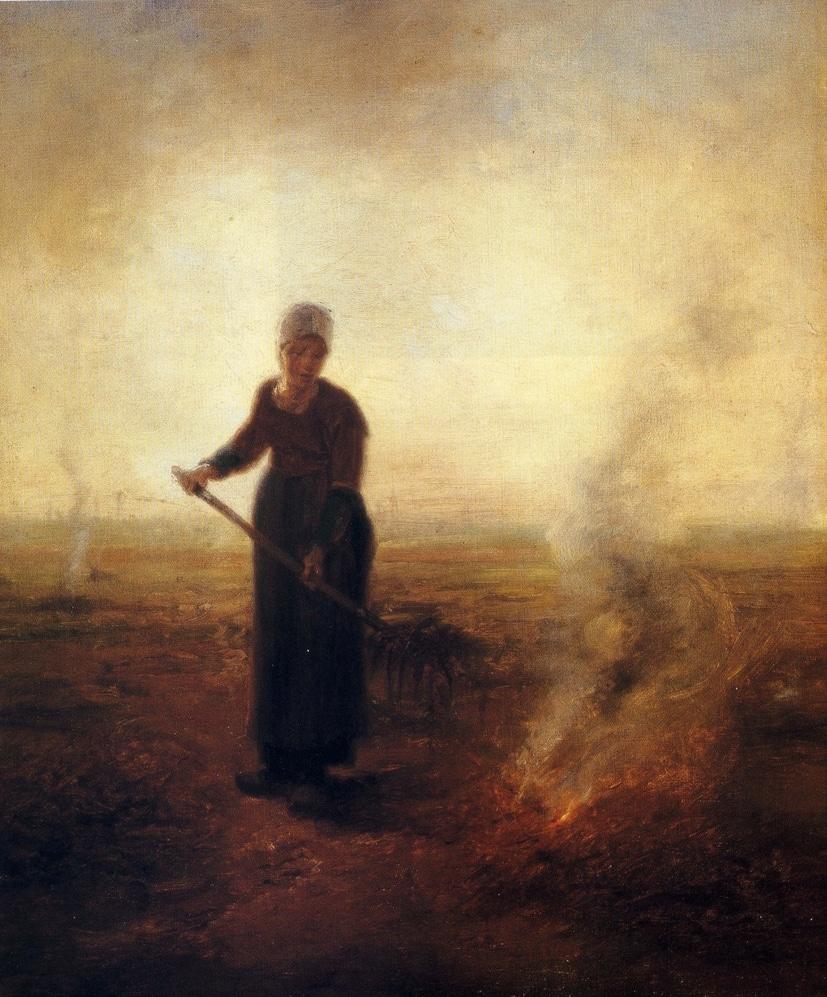 J.F. Millet. Contadina che brucia l'erba. Gand, Museum voor Schone Kunsten