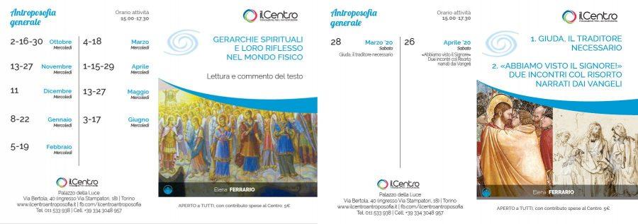 Calendario Elena Ferrario 2019-2020