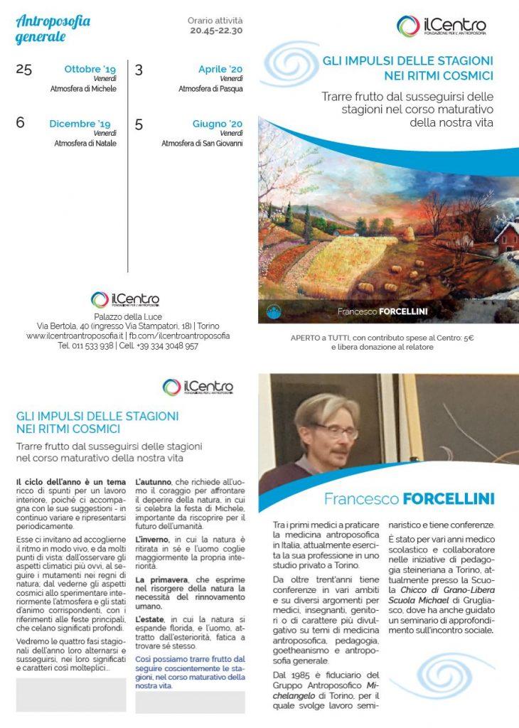 Francesco Forcellini le 4 immaginazioni cosmiche locandina