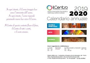 Calendario Il Centro Antroposofia 2019-2020 copertina