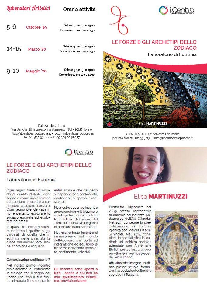 Elisa Martinuzzi Euritmia Zodiaco 2019-2020 locandina