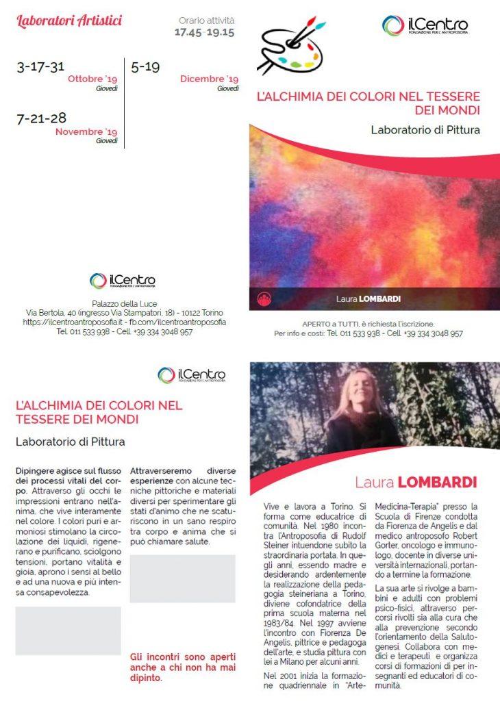 Laura Lombardi pittura alchimia colori locandina