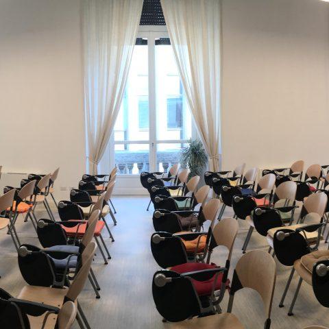 Il salone del Centro Antroposofia di Torino