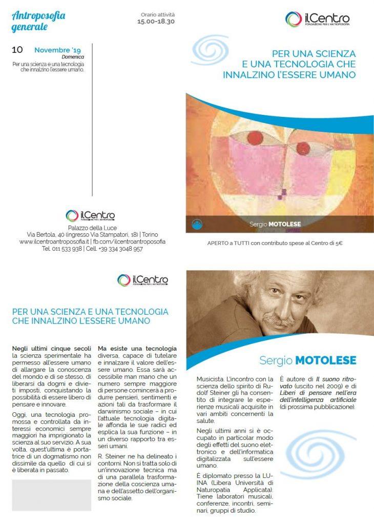 Sergio Motolese Scienza tecnologia 2019-11-10 locandina