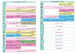 Calendario Il Centro Antroposofia 2019-2020 dicembre
