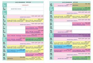 Calendario Il Centro Antroposofia 2019-2020 novembre