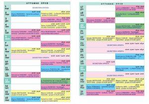 Calendario Il Centro Antroposofia 2019-2020 ottobre