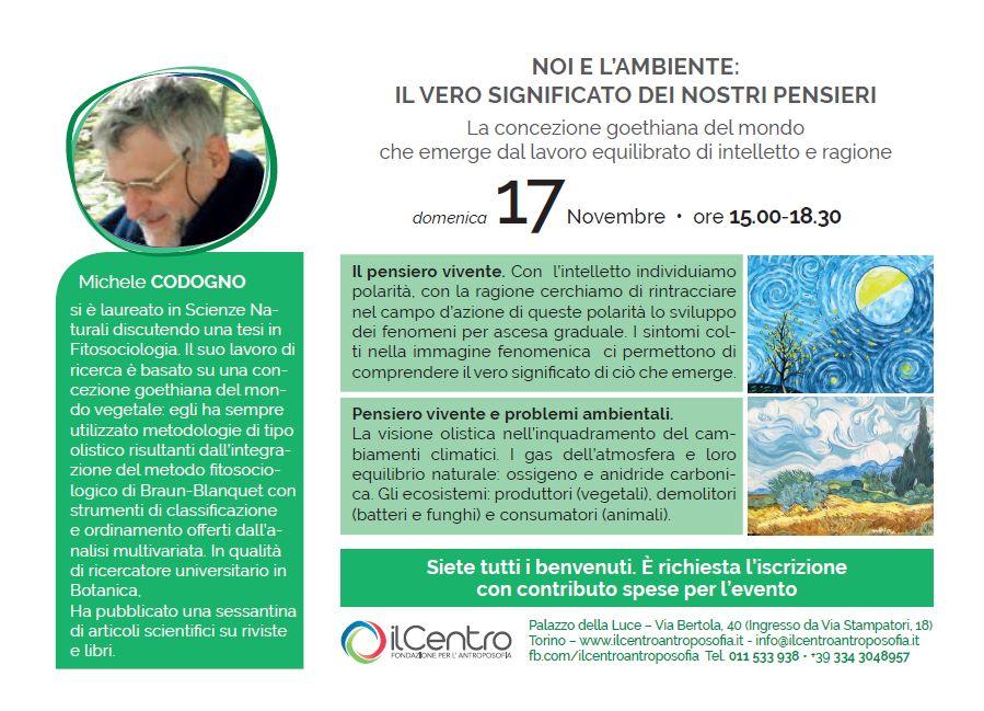 Michele Codogno Ambiente locandina 17-11-2019