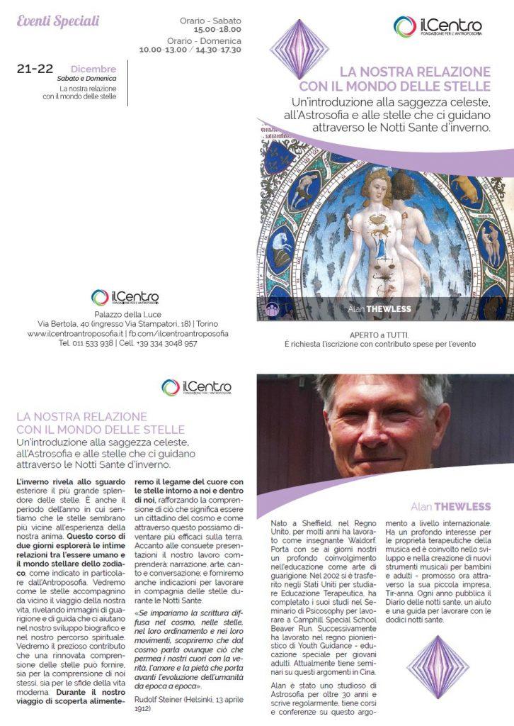 Alan Thewless Relazione con il mondo delle stelle locandina
