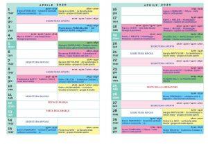 Calendario Il Centro Antroposofia 2019-2020 aprile 2020