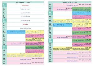 Calendario Il Centro Antroposofia 2019-2020 gennaio 2020