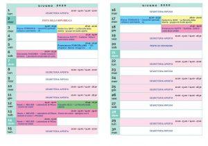 Calendario Il Centro Antroposofia 2019-2020 giugno 2020