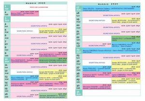 Calendario Il Centro Antroposofia 2019-2020 maggio 2020