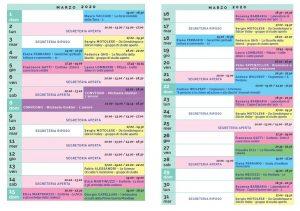 Calendario Il Centro Antroposofia 2019-2020 marzo 2020