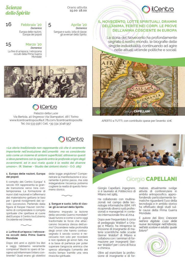 Giorgio Capellani Il Novecento locandina