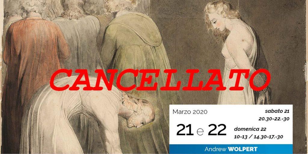Andrew Wolpert Forgiveness perdono 21-03-2020 cancellato
