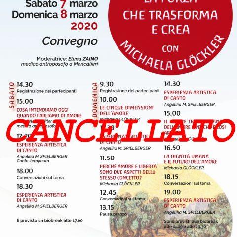 Convegno 7-8 marzo - CANCELLATO