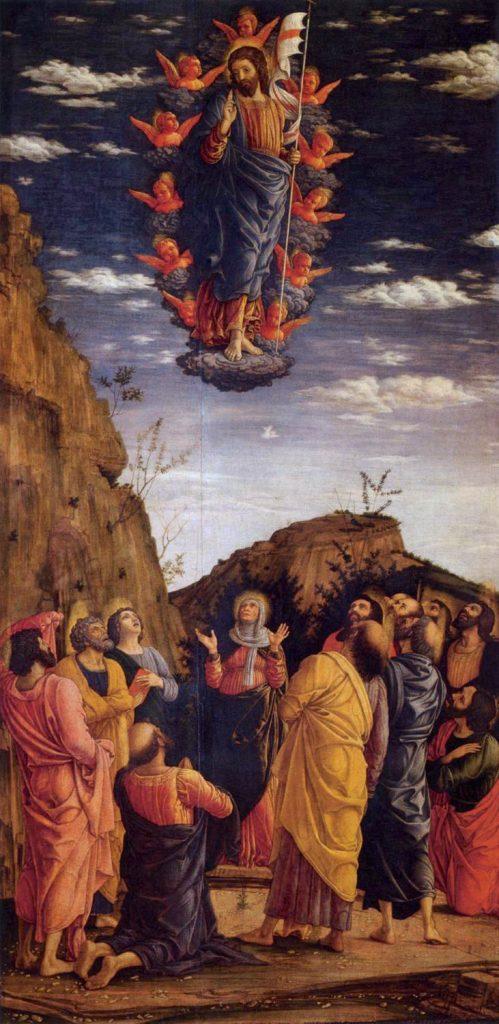 Andrea Mantegna, Ascensione dettaglio - 1460 ca. Trittico degli Uffizi