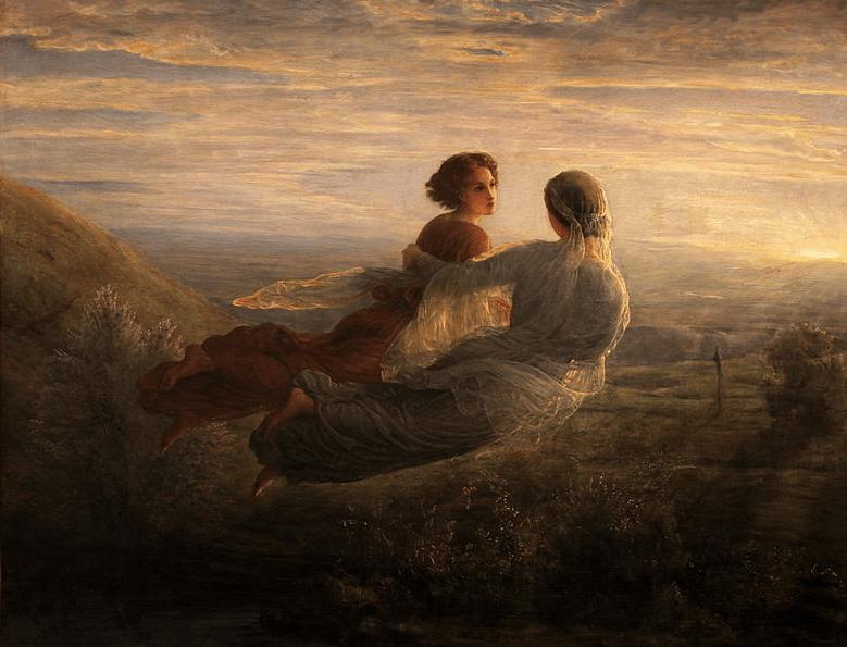 Louis Janmot - Il volo dell'anima, 1854 Musée des Beaux Art, Lyon