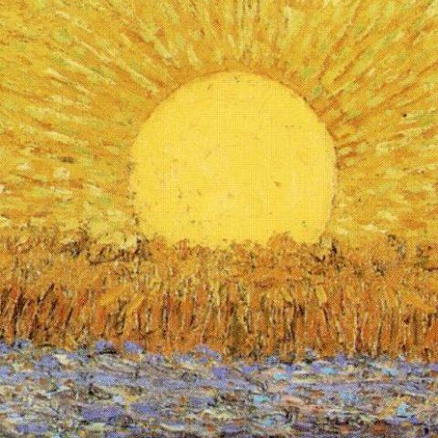 Vincent Van Gogh – Seminatore al tramonto (dettaglio)