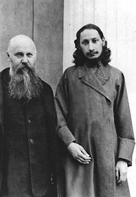 Pawel Florenski (a destra) e Michail Nowoselow 1913
