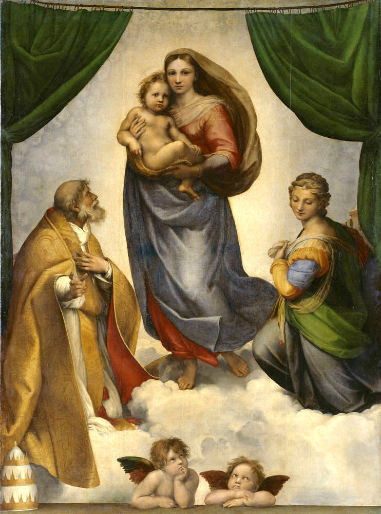 Raffaello Sanzio, Madonna Sistina 1513-1514 ca. - Gemäldegalerie, Dresda