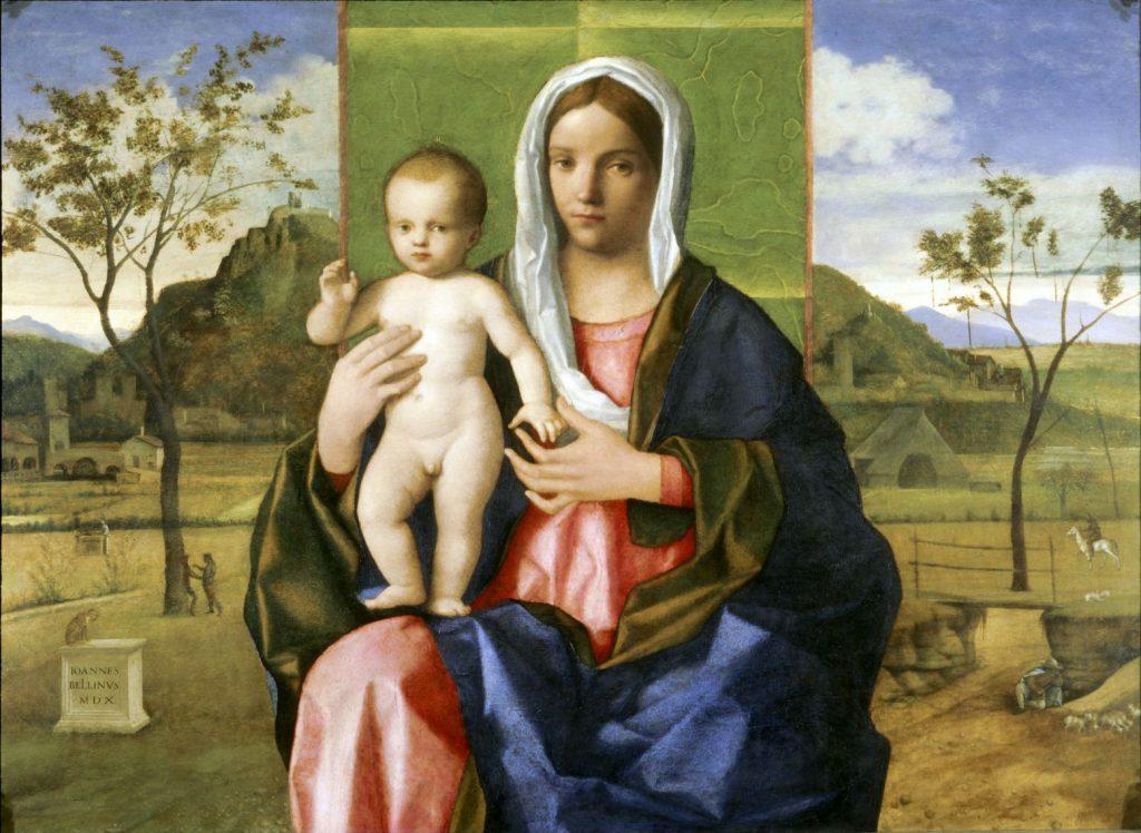 Madonna col Bambino benedicente - Giovanni Bellini (1510, Pinacoteca di Brera, Milano))