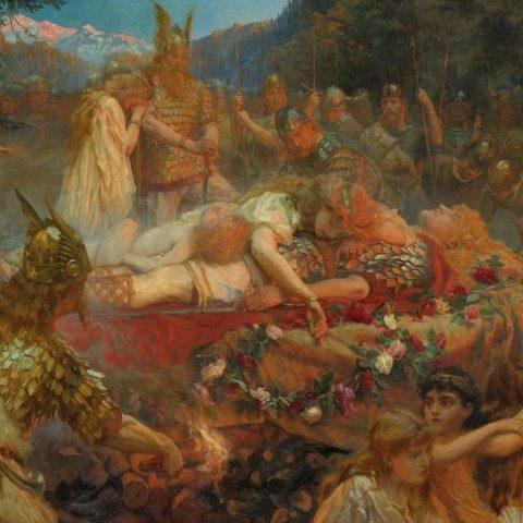 Butler Charles Ernest - Morte di un guerriero vichingo - presumibilmente 1909
