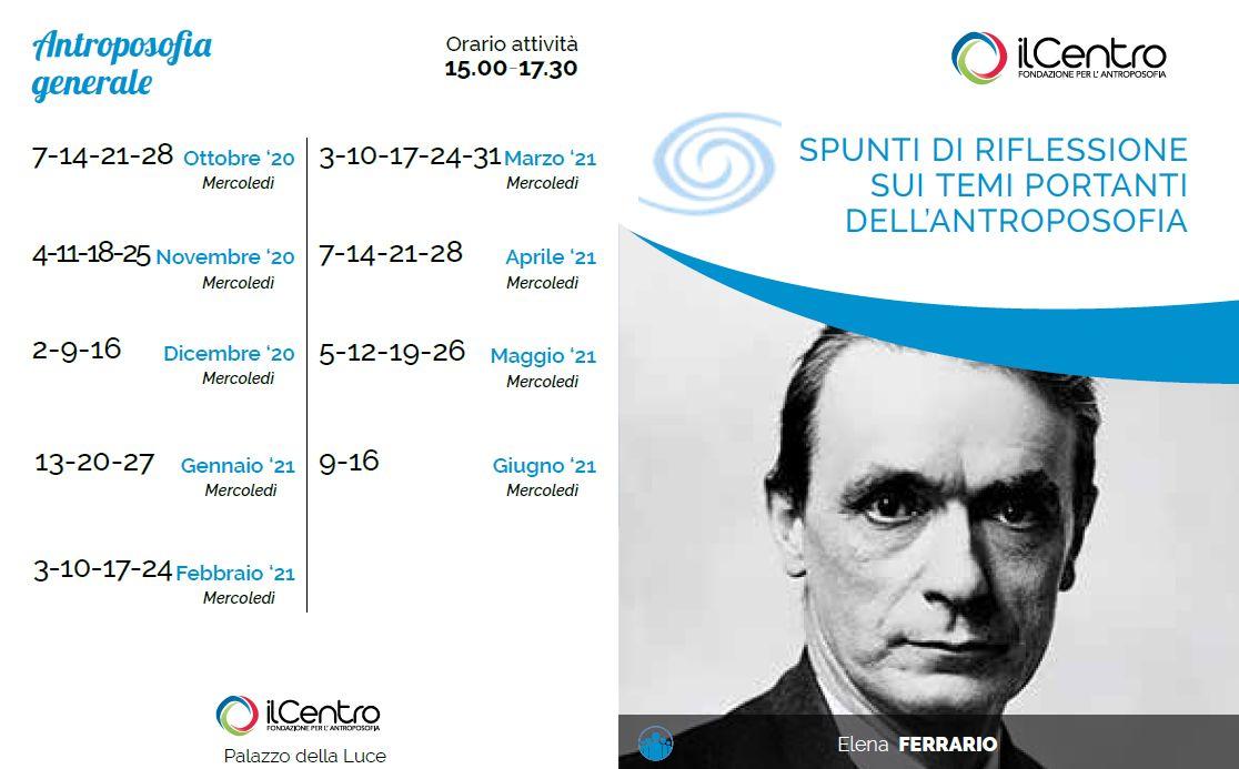 Elena Ferrario calendario attività 2020-21