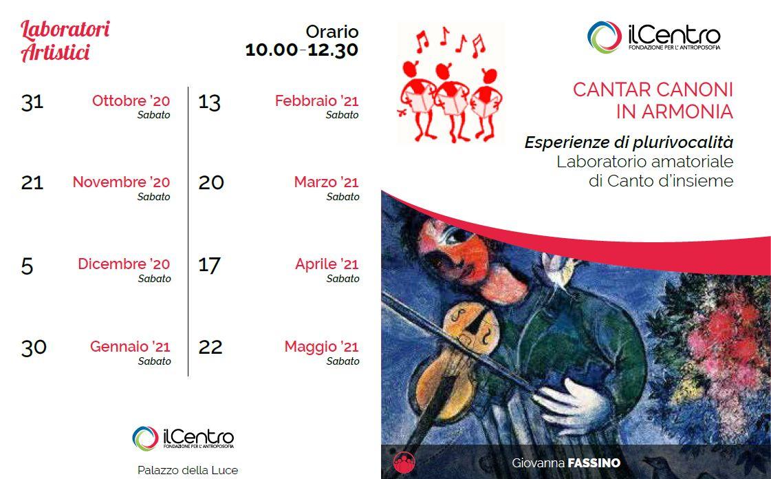 Giovanna Fassino calendario attività 2020-21